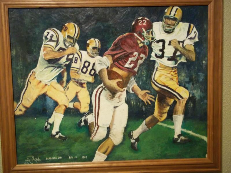 lsu painting by jim borne